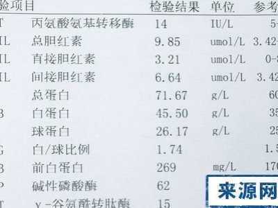如何看肝功能检验单 肝功能化验单要怎么看