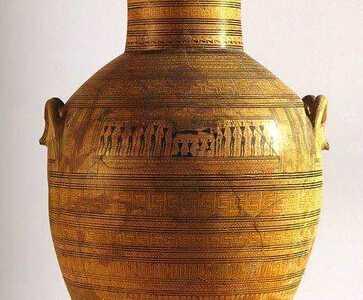荷马时代几何纹样时期 古希腊的陶器手工艺艺术