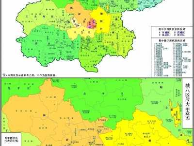 北京各区边界图 北京各区乡镇街道名单汇总