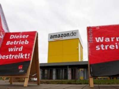 """罢工要求加薪 """"黑色星期五""""亚马逊欧洲员工罢工"""