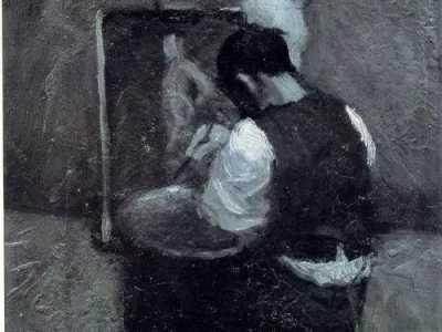 毕加索写实作品自画像 面对真实的自己