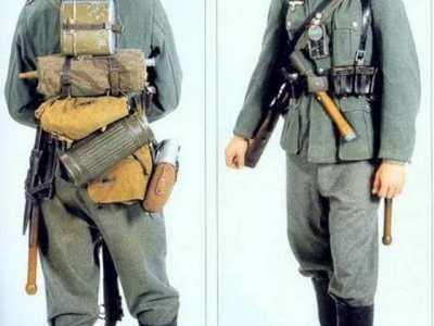 德国二战士兵士兵单兵武器 二战时德军单兵装备中