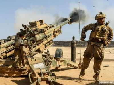 m777榴弹炮 把老子的英国大炮拉上来