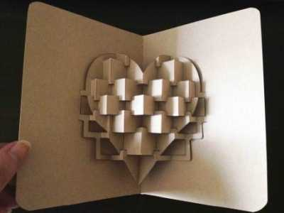 情人节立体心情人节贺卡模版与手工DIY教程 情人节贺卡手工立体